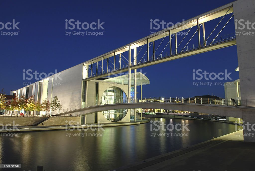 Reichstag At Dusk royalty-free stock photo