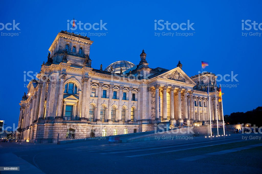 Reichstag at night royalty-free stock photo