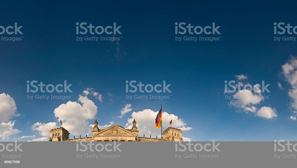 Reichstag Berlin blue skies royalty-free stock photo