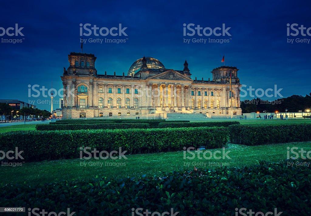 Reichstag building (German parliament), Berlin stock photo