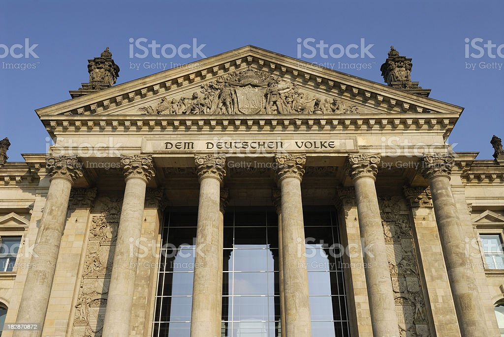 Reichstag Building In Berlin Germany royalty-free stock photo