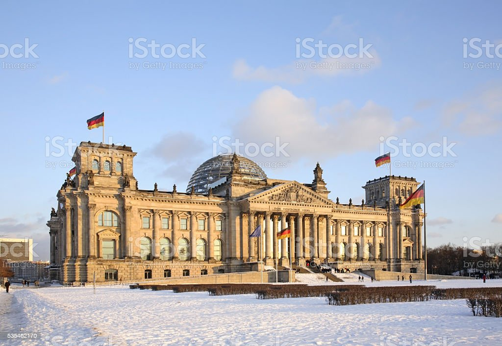 Reichstag building in Berlin. Germany stock photo