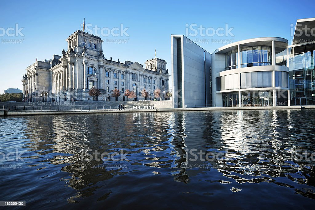 Reichstag Building in Berlin stock photo