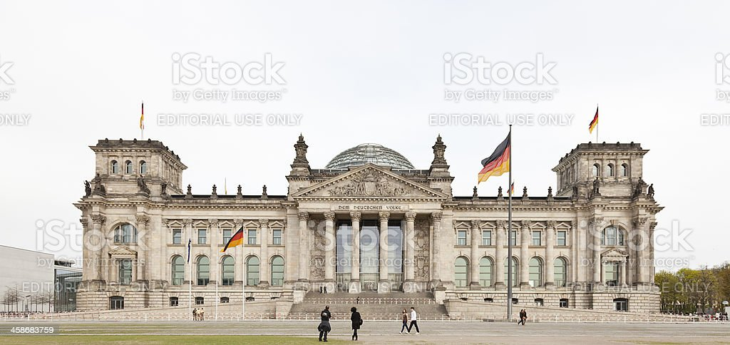 Reichstag building stock photo