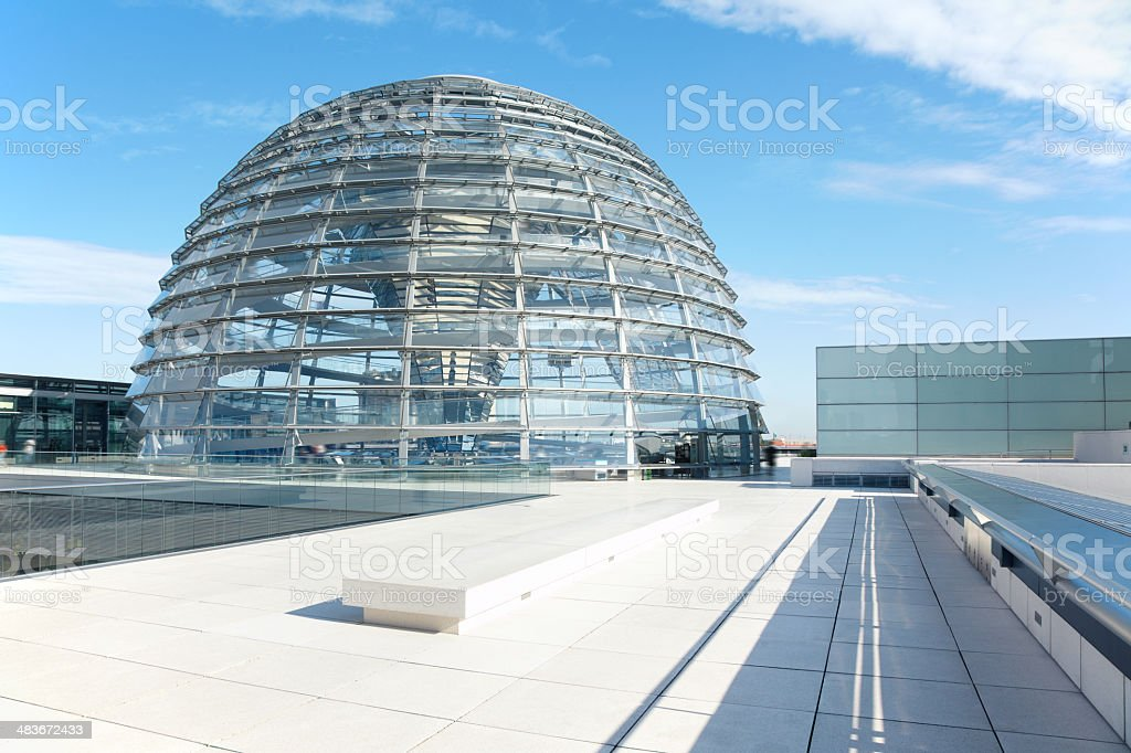 Reichstag Dome, Berlin modern achitecture stock photo