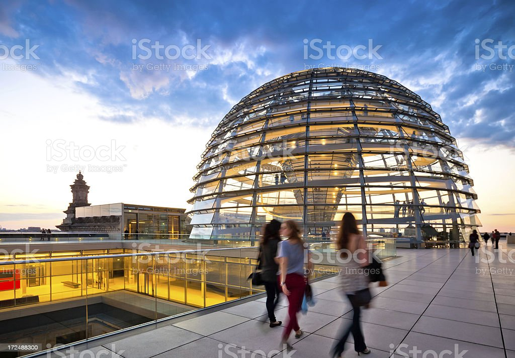 Reichstag Dome, Berlin royalty-free stock photo