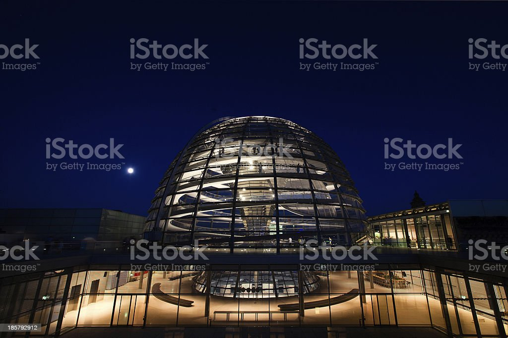 Reichstag dome exterior stock photo