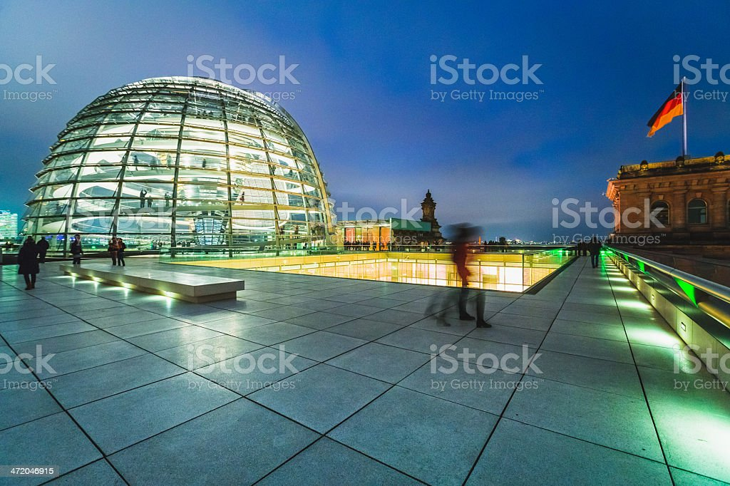 Reichstag Dome in Berlin stock photo