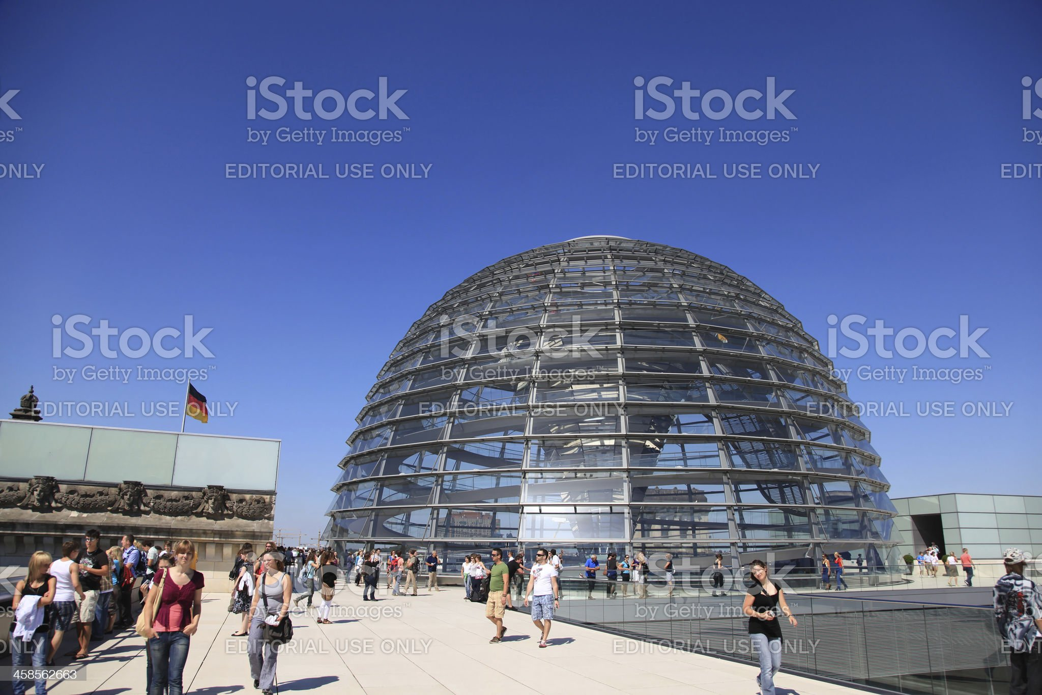 Reichstag Dome royalty-free stock photo