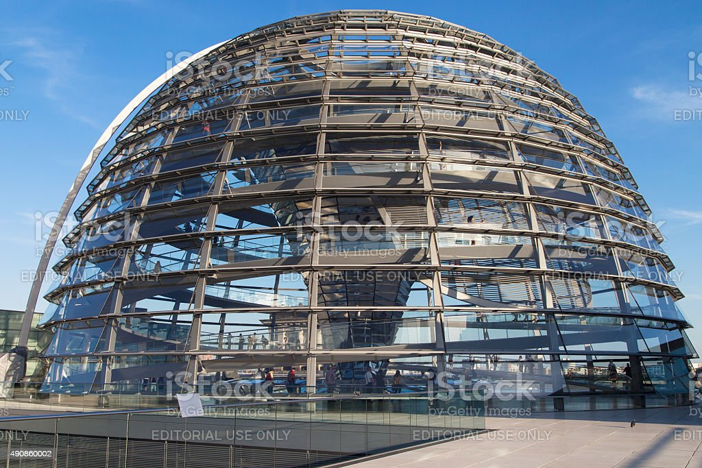 Reichstag dome stock photo
