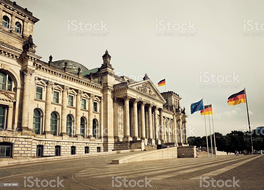 Reichstag, first parliament of the German Empire, Berlin royalty-free stock photo