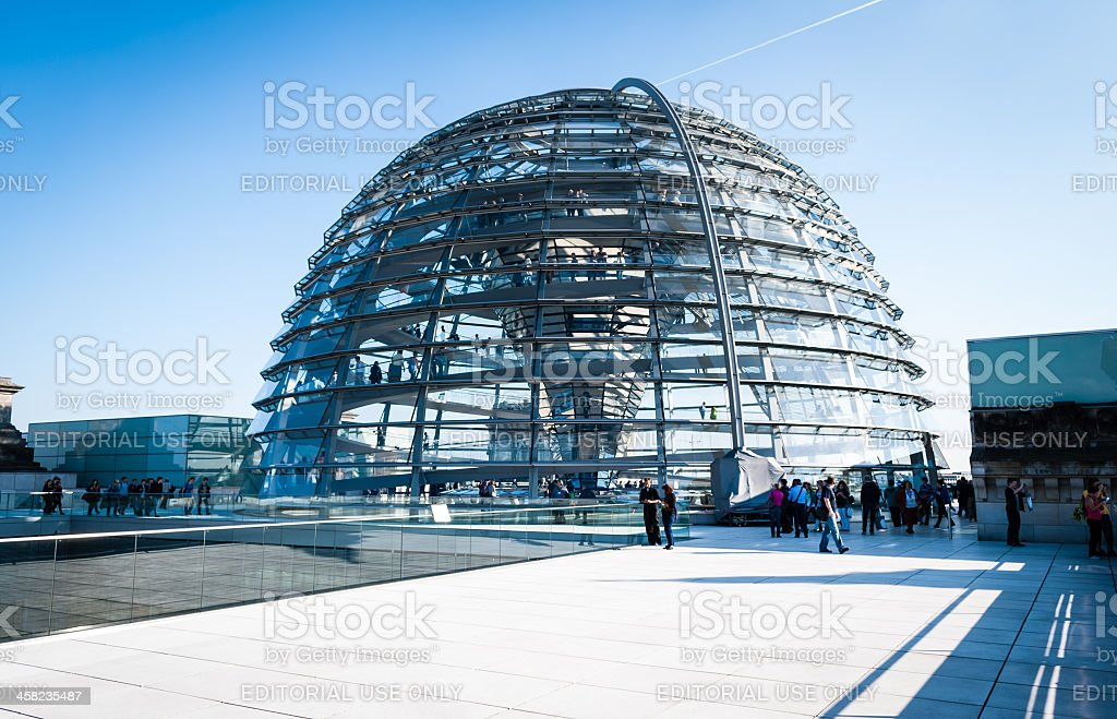 Reichstag glass dome royalty-free stock photo