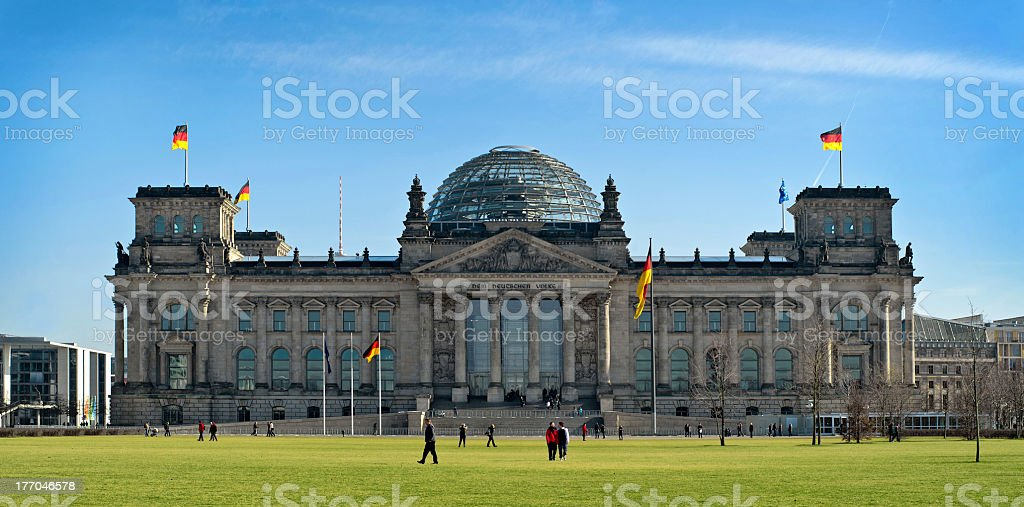 Reichstag in Berlin, Germany stock photo