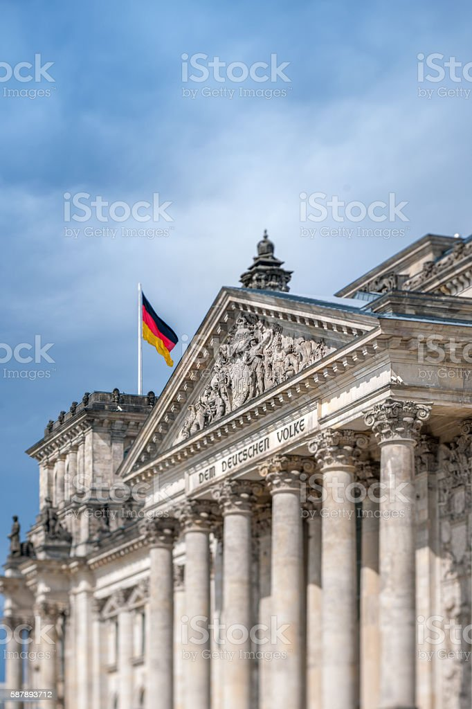 Reichstag in Berlin Germany stock photo