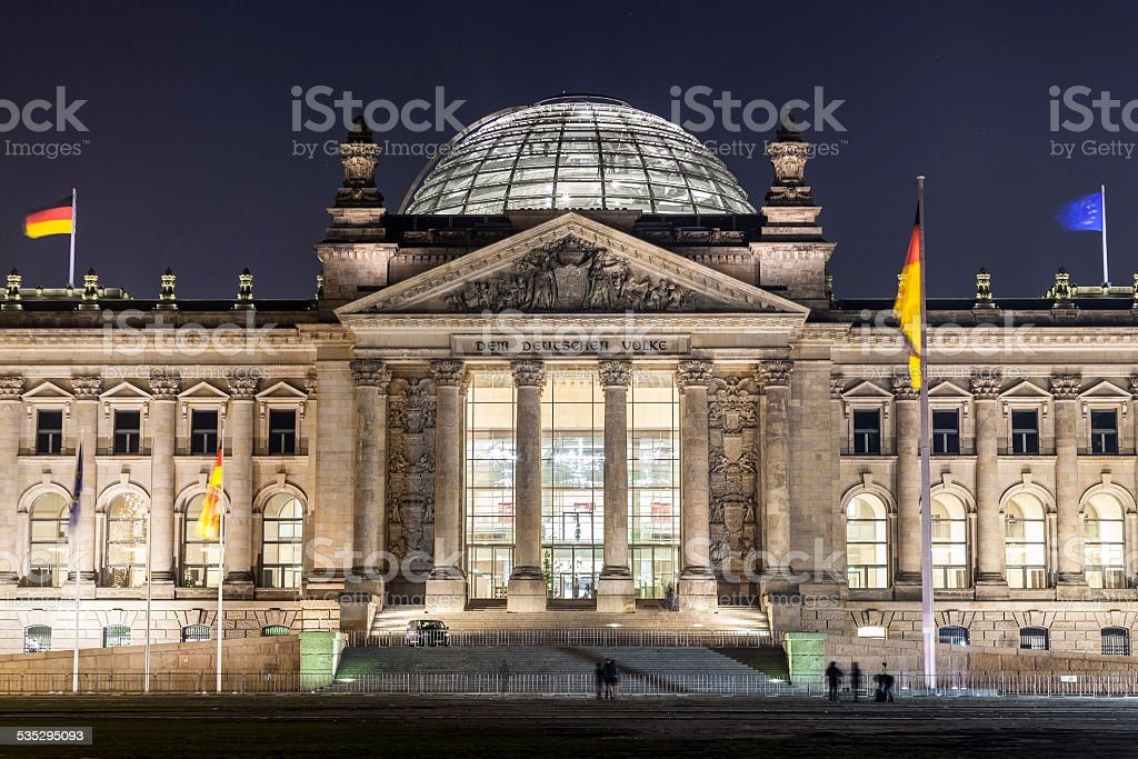 Reichstag Parliament Buildings in Berlin stock photo