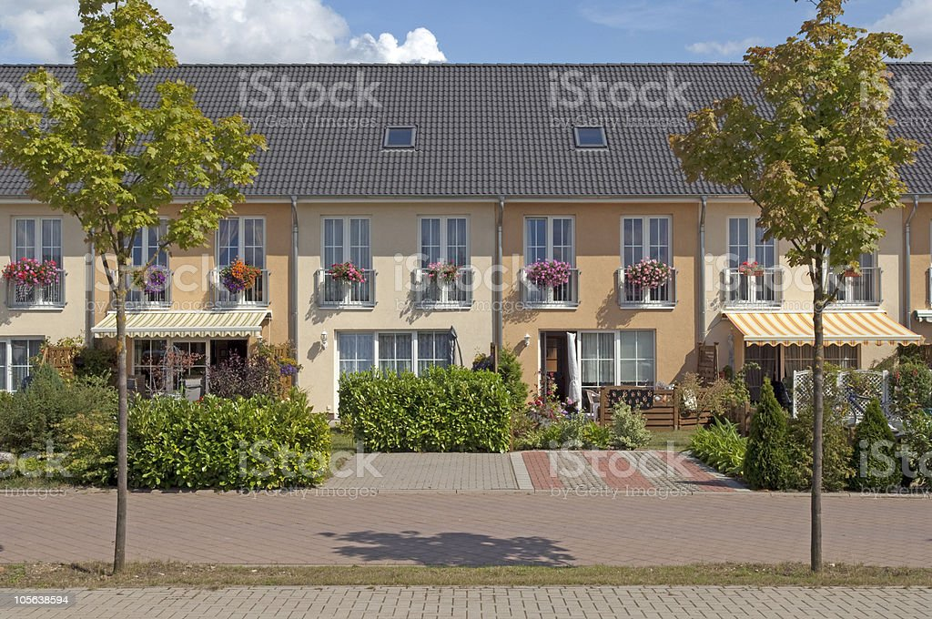 Reihenhaus in Schwerin royalty-free stock photo