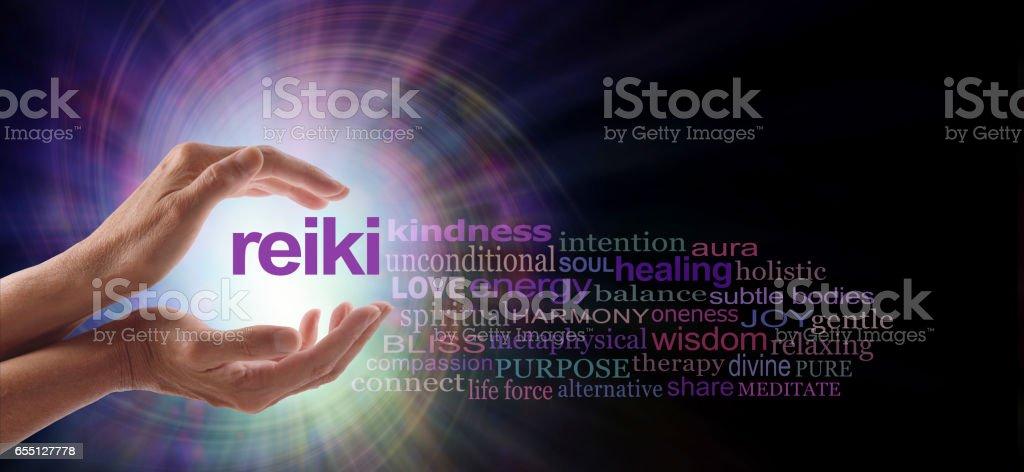 Reiki Vortex Healing Word Cloud stock photo