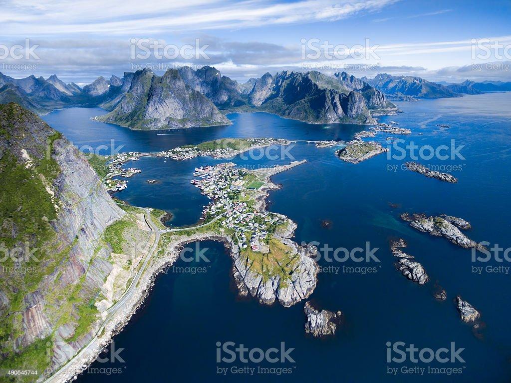 Reine in Norway stock photo