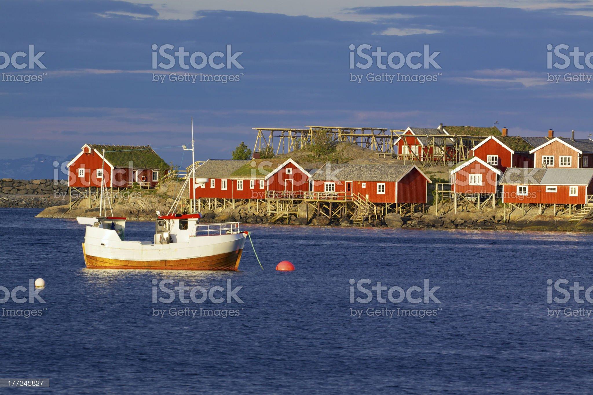Reine on Lofoten royalty-free stock photo