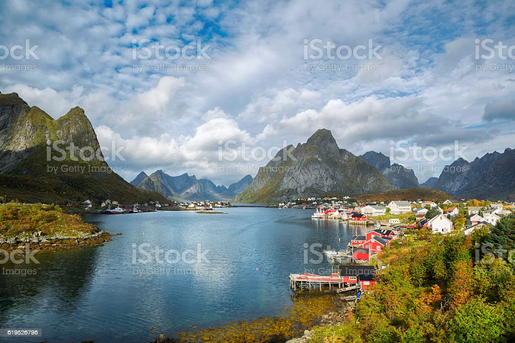 Reine Village, Lofoten, Norway stock photo