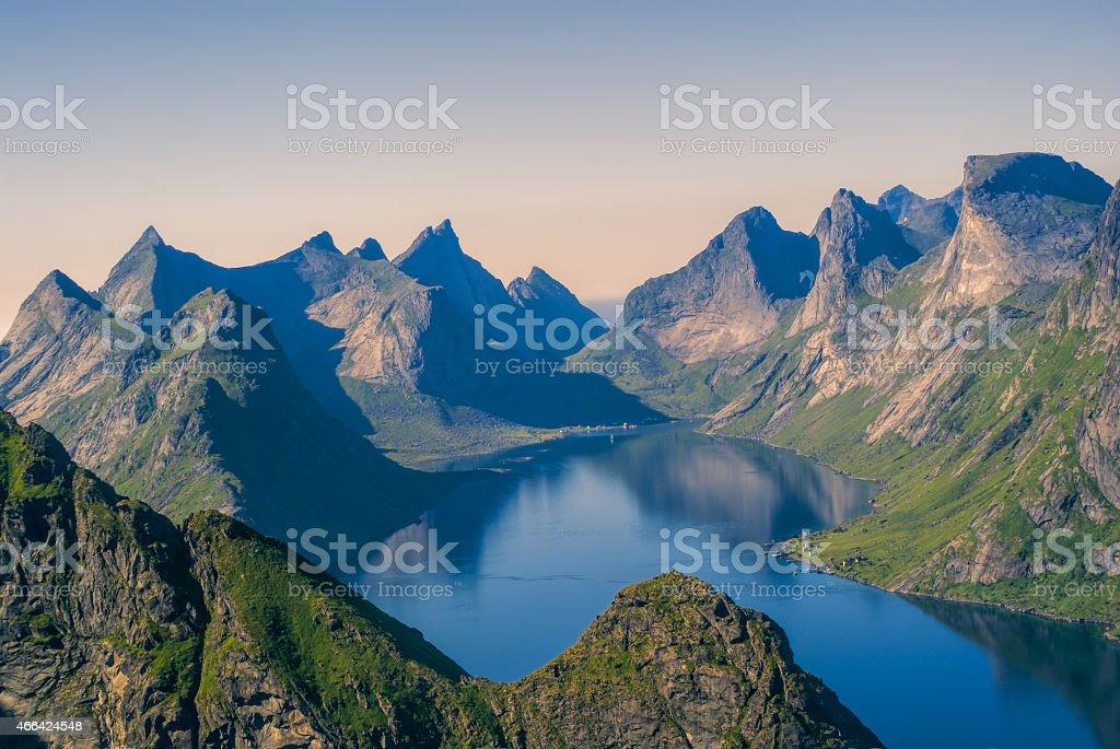 Reinefjorden stock photo