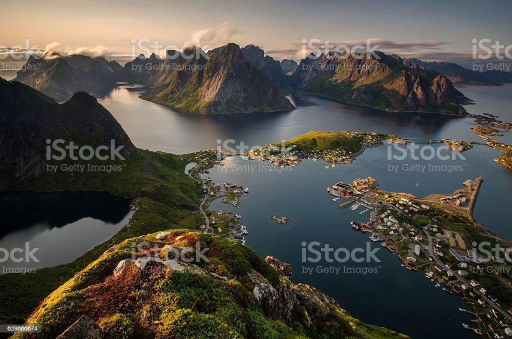 Reinefjorden view stock photo