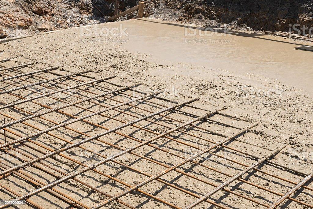Reinforce Concrete Slab. stock photo