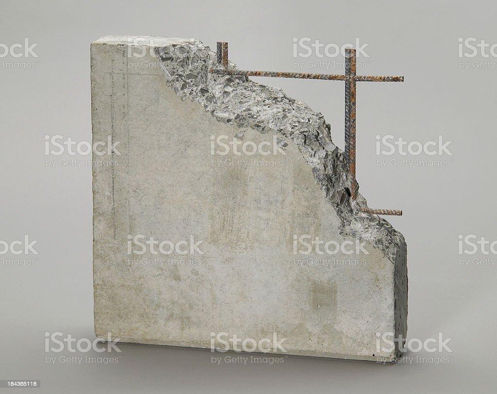 Reinforced concrete stock photo