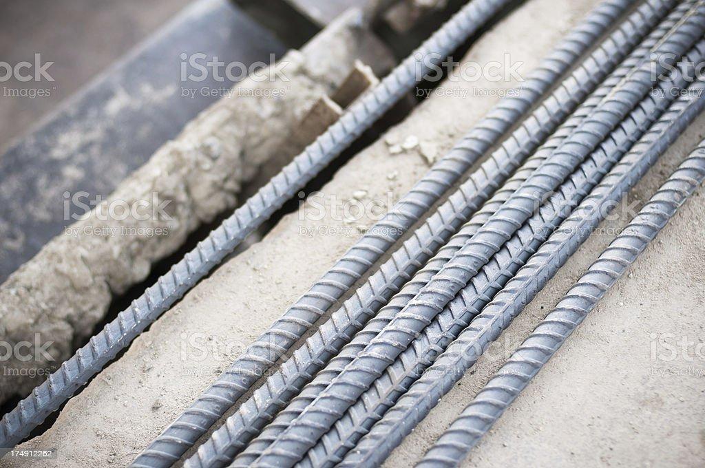 Reinforced concrete, steel stock photo