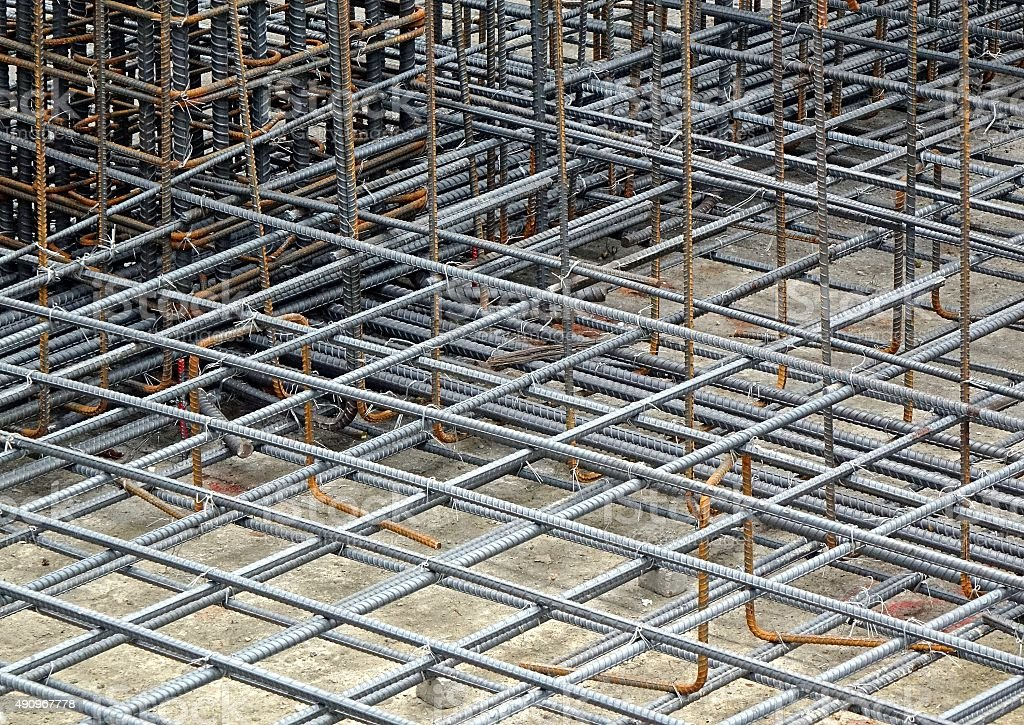 Reinforced Steel Bars stock photo