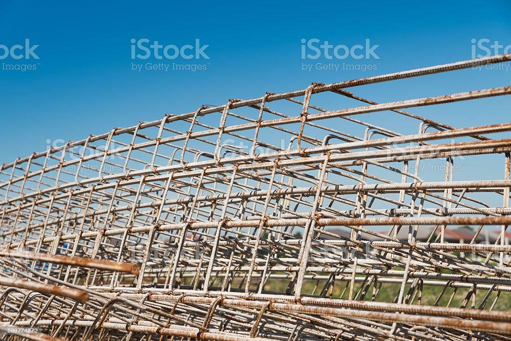 Reinforced steel rods. stock photo