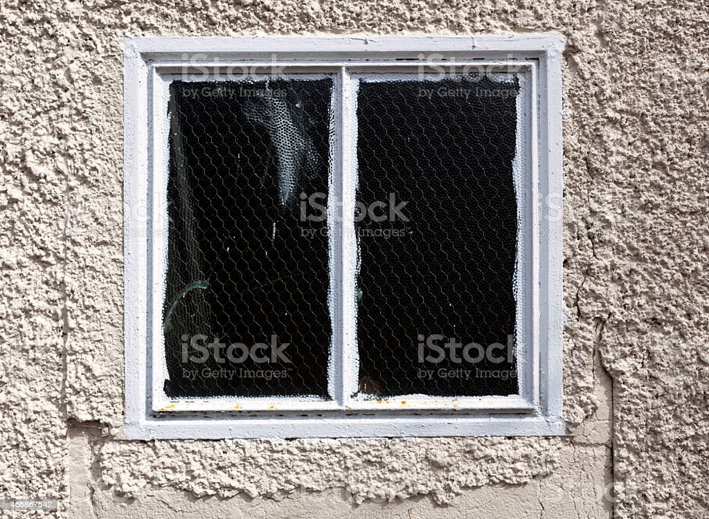 Reinforced Wire Window stock photo
