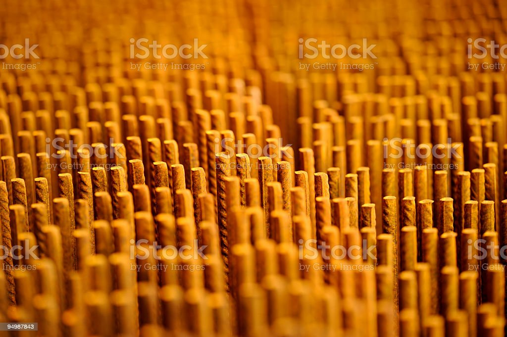 Reinforcement steel mesh royalty-free stock photo