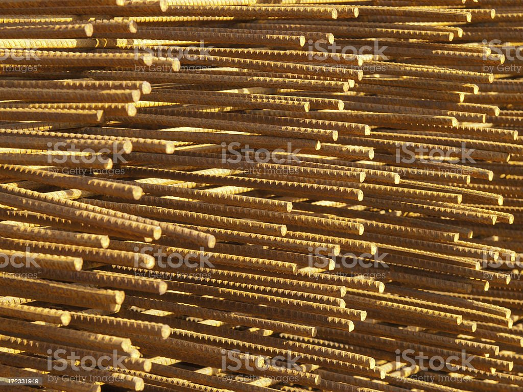 Reinforcing bars royalty-free stock photo