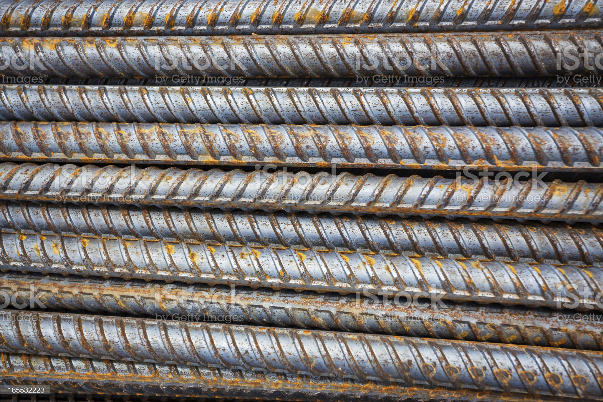 Reinforcing steel bars for building armature royalty-free stock photo