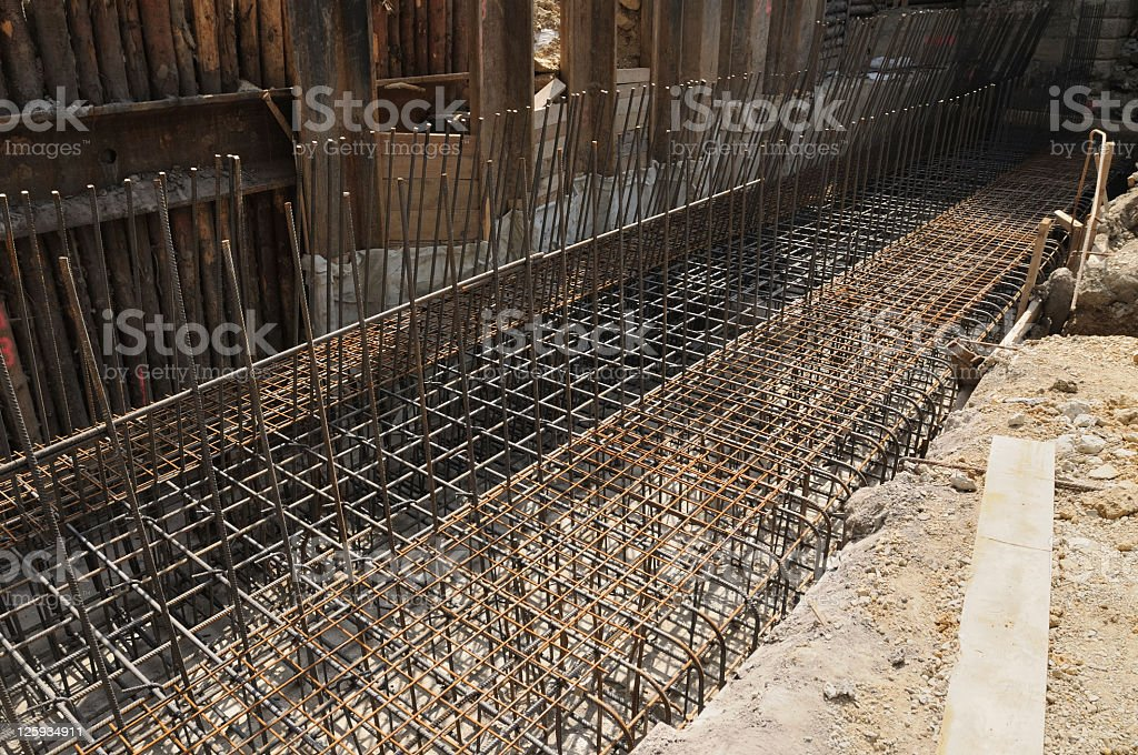 Reinforcing steel cage royalty-free stock photo