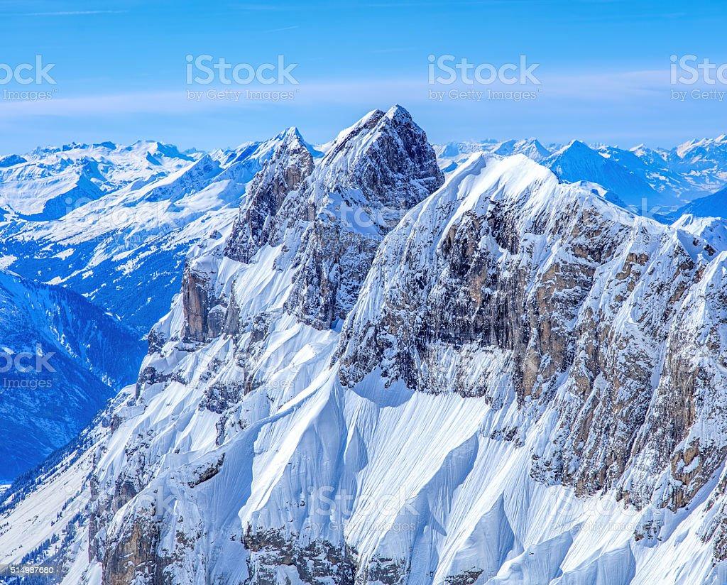 Reissend Nollen, view from Mt. Titlis stock photo