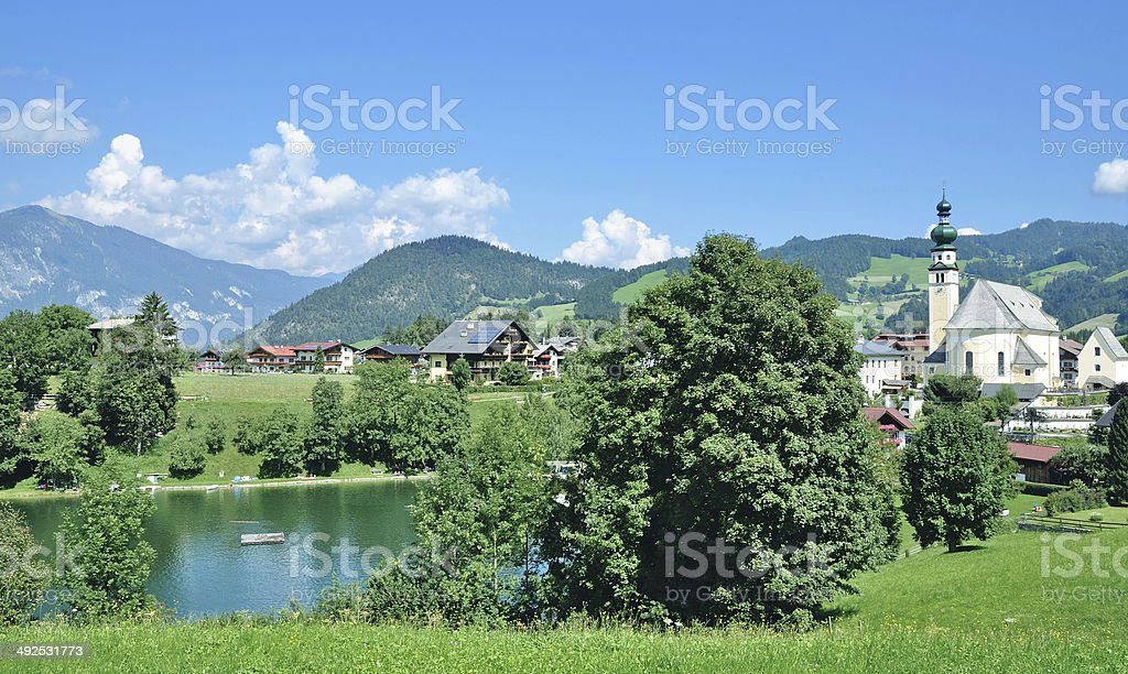 Reith im Alpbachtal,Tirol,Austria stock photo