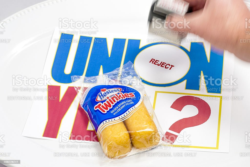 Reject stamp on a union sign with Twinties stock photo
