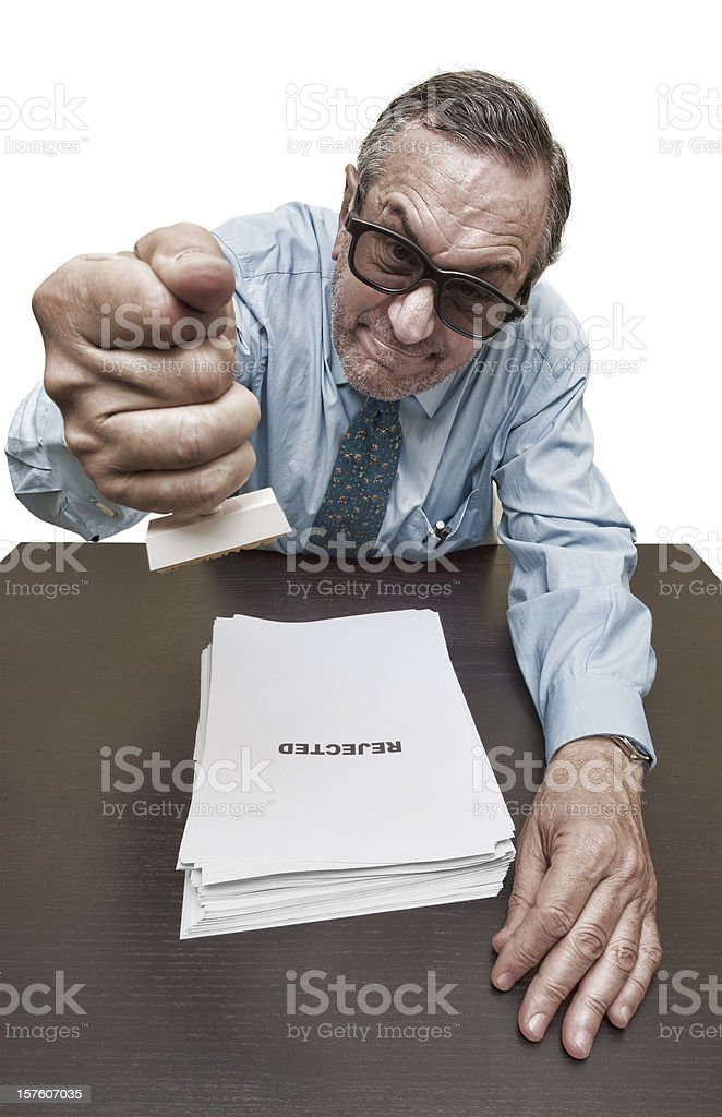 Rejected application. royalty-free stock photo