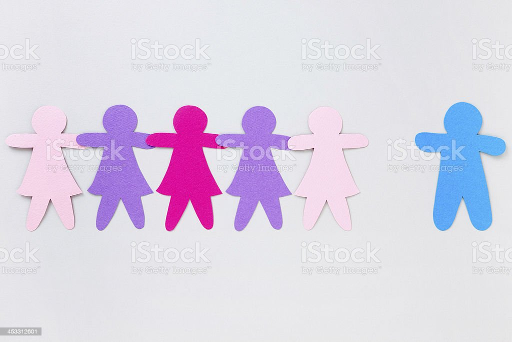 Rejected boy royalty-free stock photo