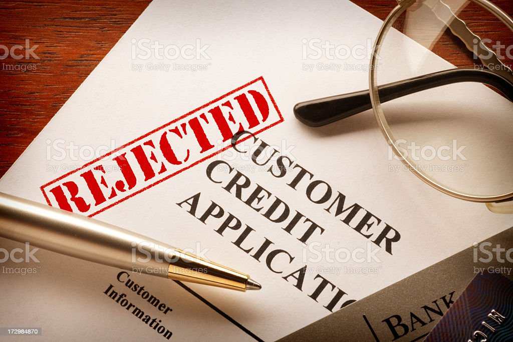 Rejected  Customer Credit Application stock photo
