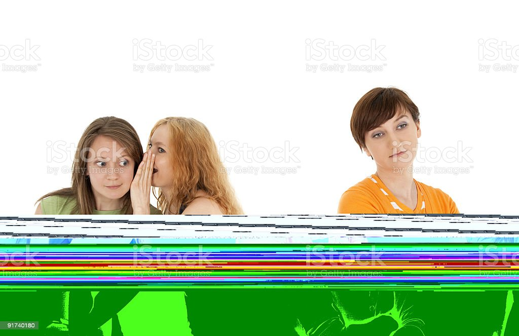 Rejected friend royalty-free stock photo