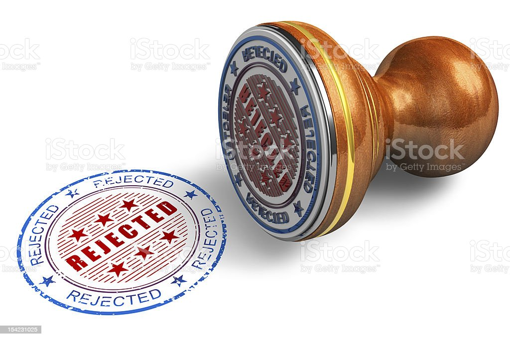 Rejected stamp royalty-free stock photo