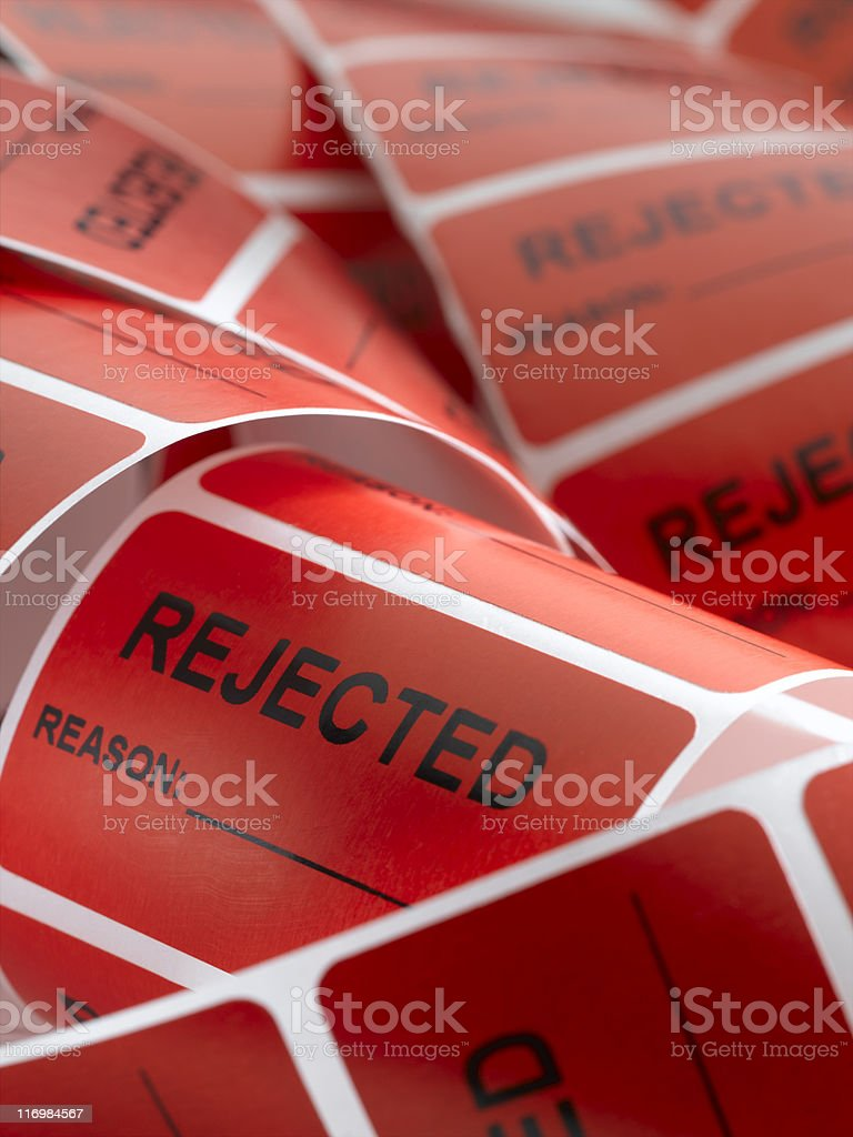 Rejected Sticker (vertical) royalty-free stock photo