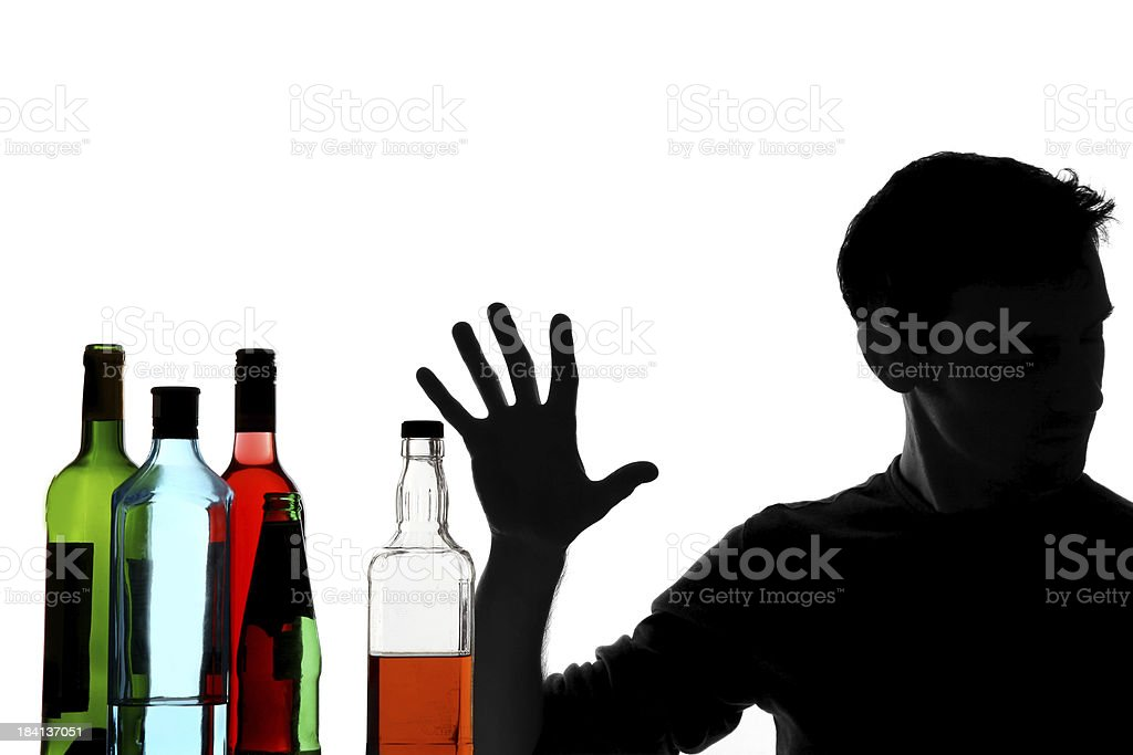 Rejecting Alcohol royalty-free stock photo