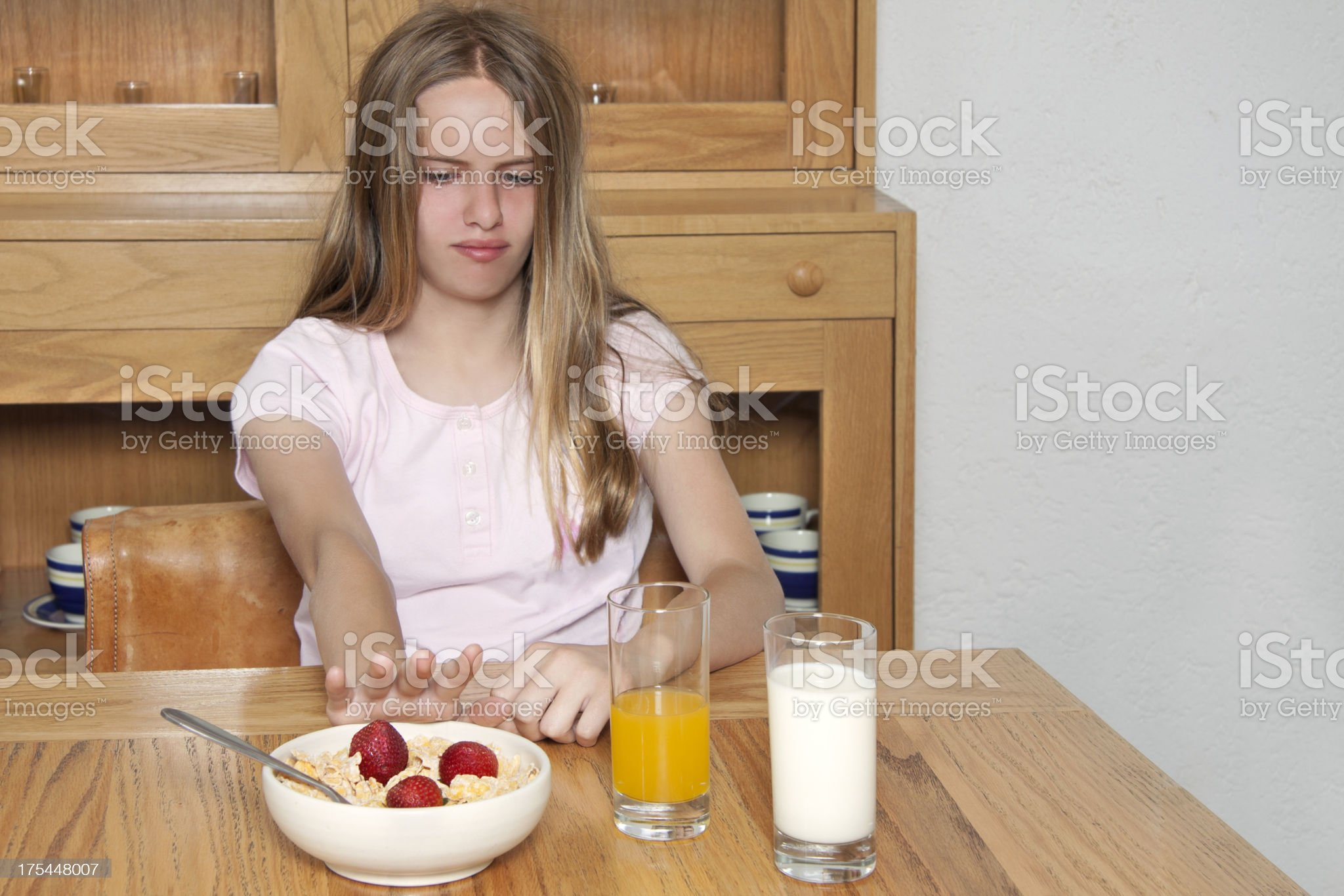 rejecting food royalty-free stock photo