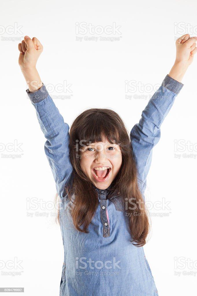 rejoice girls stock photo