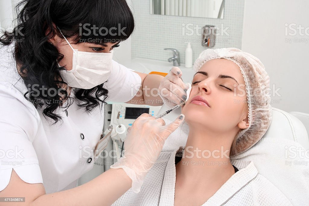Rejuvenation procedure in beauty clinic royalty-free stock photo