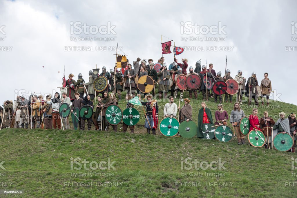Rekawka annual festival of the centuries-old history held under the Krakus Mound in Cracow. Poland stock photo